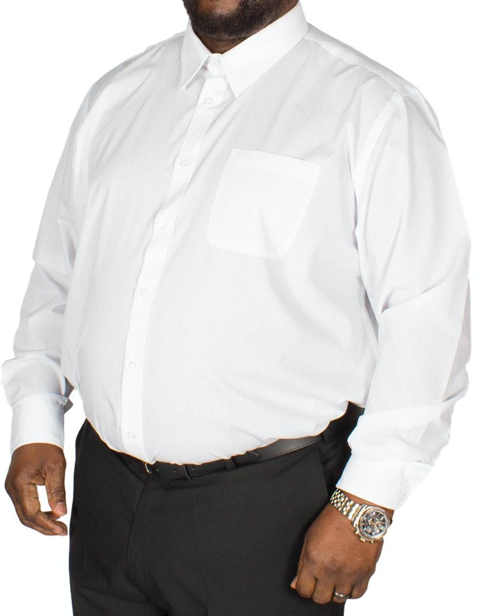 D555 Aiden Long Sleeve Classic Shirt White