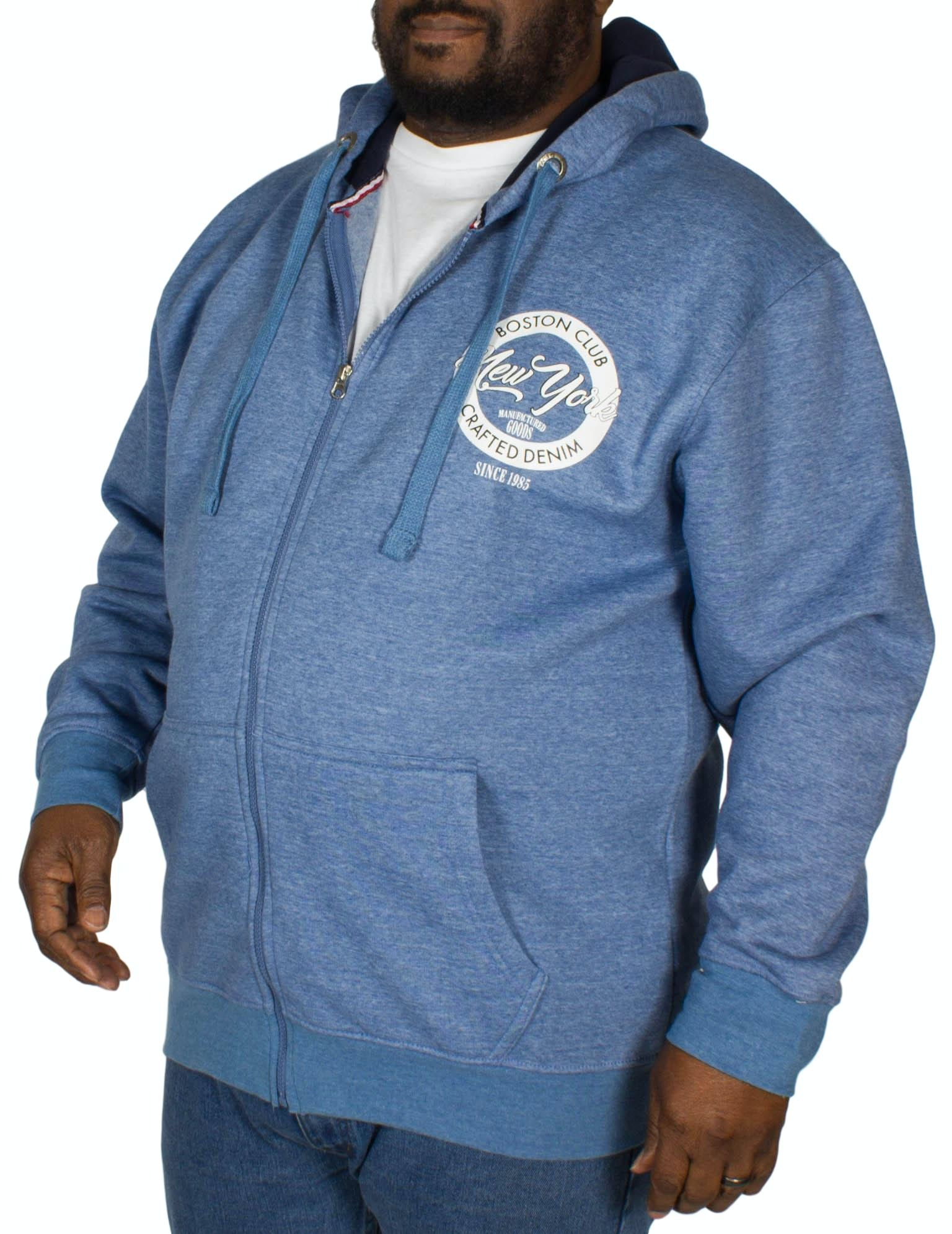 KAM Boston Club Hoody Denim