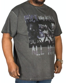 Replika Kiss Print T-Shirt Black