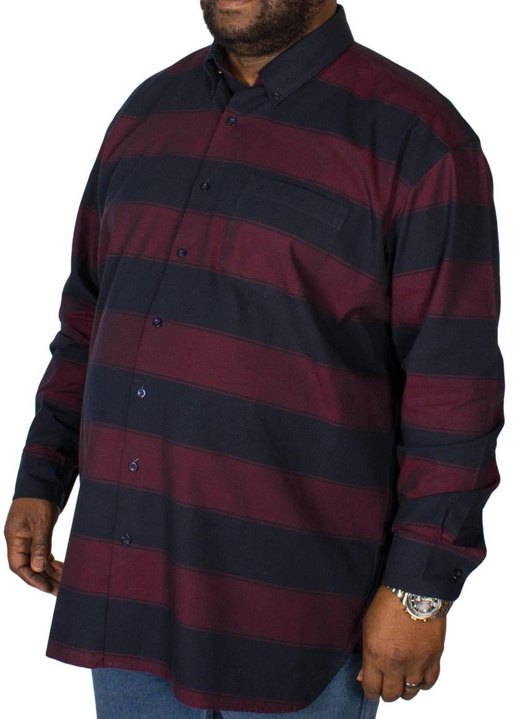 Espionage Blanket Stripe Long Sleeve Shirt Navy/Wine