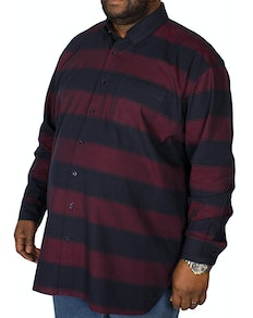 Espionage Blanket Stripe Long Sleeve Shirt Navy/Wine