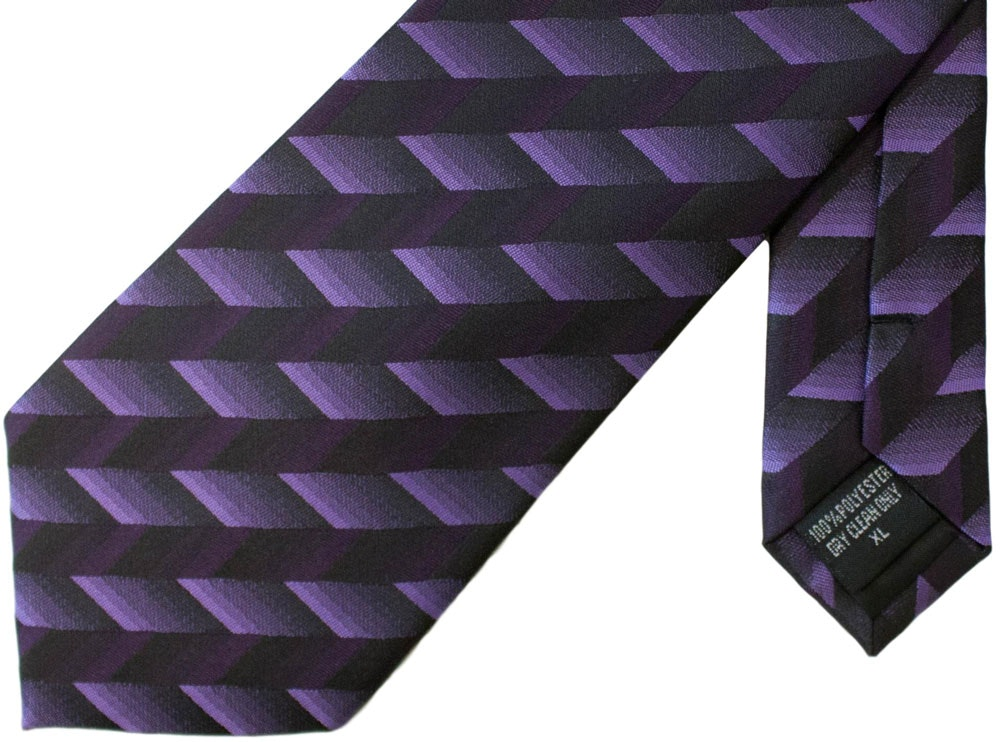 Knightsbridge Extra Long Broken Stripes Tie Purple