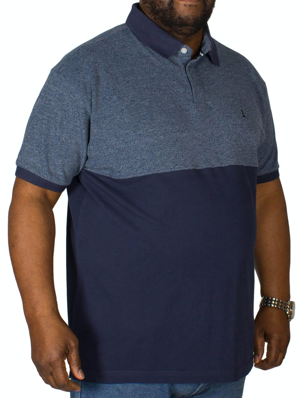 Replika Block Polo Shirt Navy