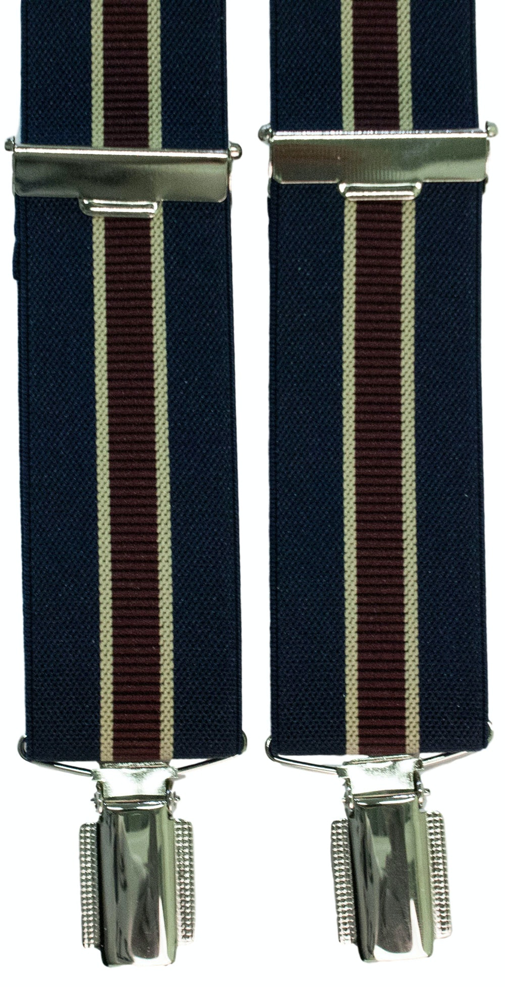 John King Extra Long Braces Navy Stripe