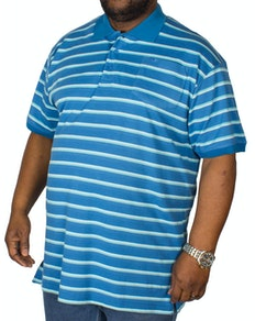 KAM Forge Stripe Polo Shirt Teal