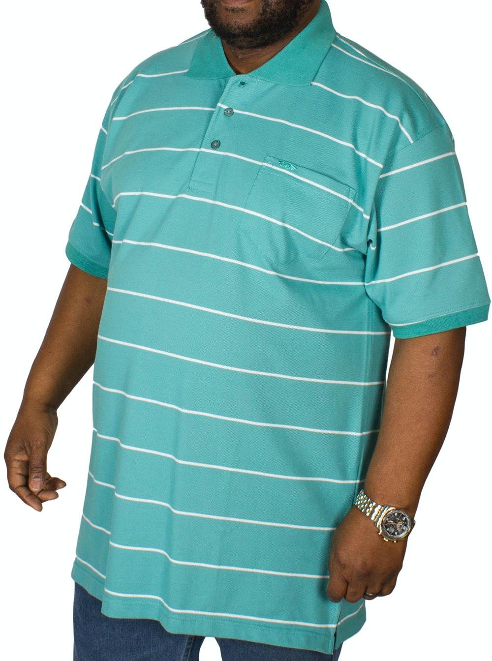 KAM Forge Stripe Polo Shirt Sea