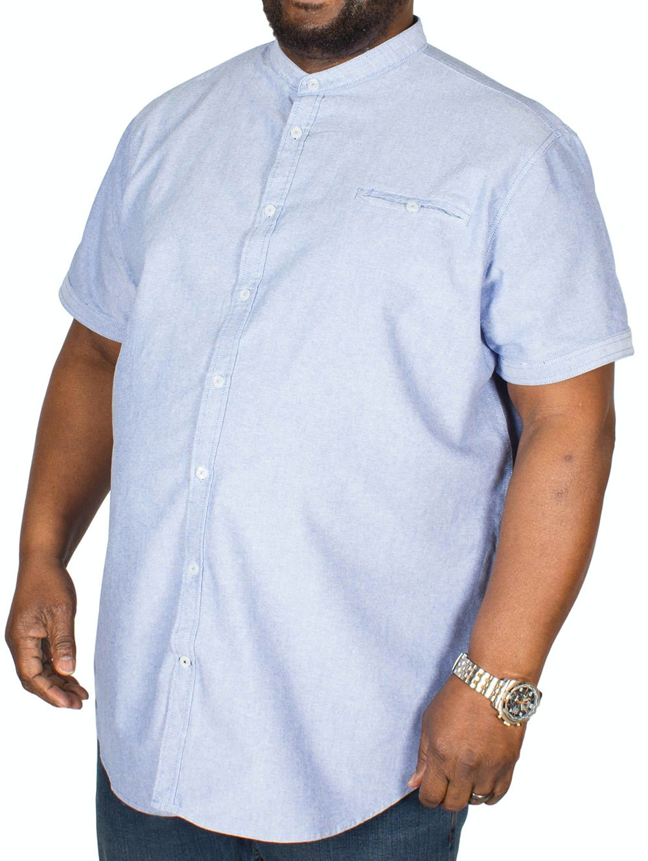 D555 Dwight Oxford Collarless Shirt Sky Blue