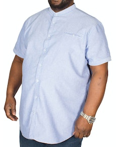 D555 Dwight Oxford Collarless Shirt Sky Blue