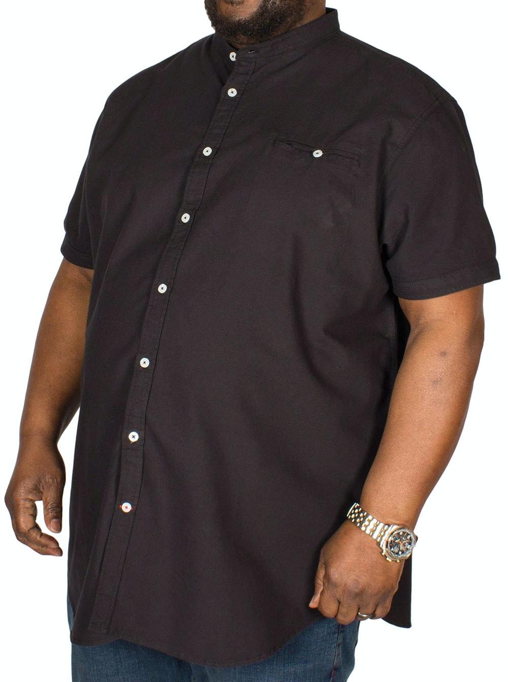 D555 Dwight Oxford Collarless Shirt Black