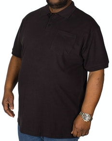 Bigdude Polo Shirt With Pocket - Black
