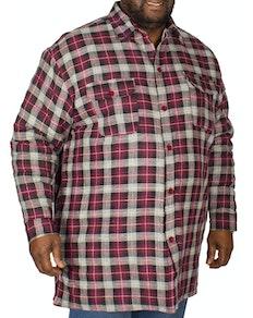 KAM Sherpa Lined Shirt Wine