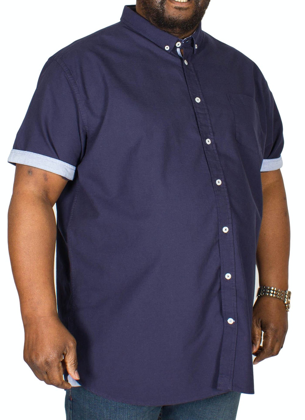 D555 Norman Oxford Shirt Navy