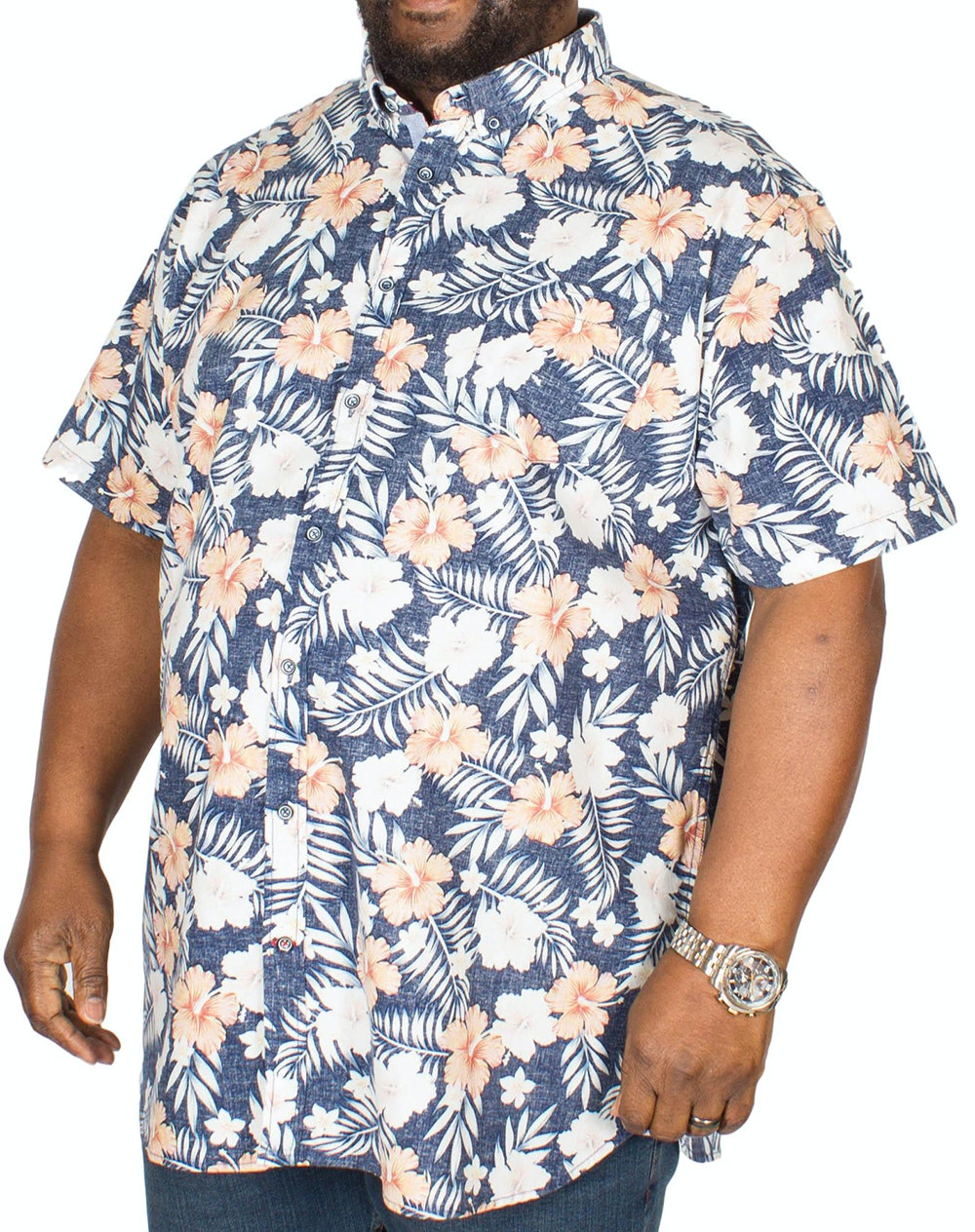 D555 Huxley Hawaiian Print Shirt