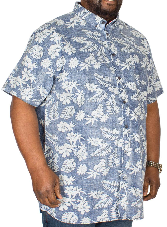 D555 Oswald Hawaiian Print Shirt Blue