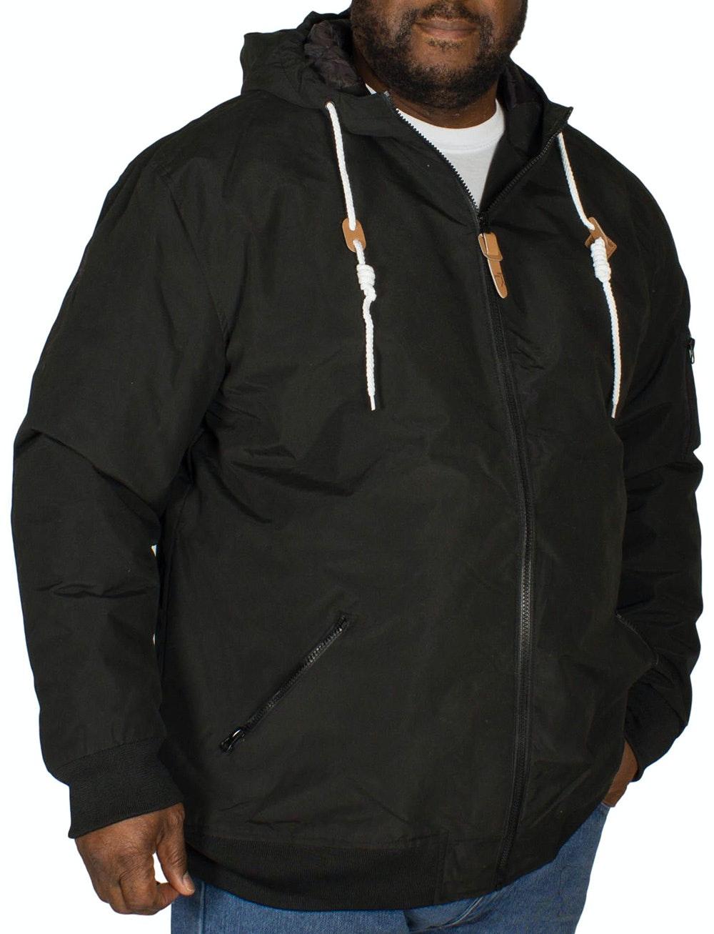 KAM Hooded Bomber Jacket Black