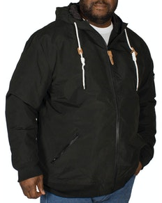 KAM Hooded Bomber Jacket Black