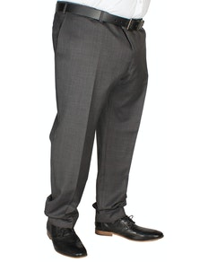 Hugo James Check Trousers Charcoal