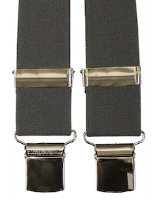 Tex Appeal Extra Long Braces Charcoal