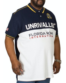 D555 Suffolk Polo Shirt Navy/White
