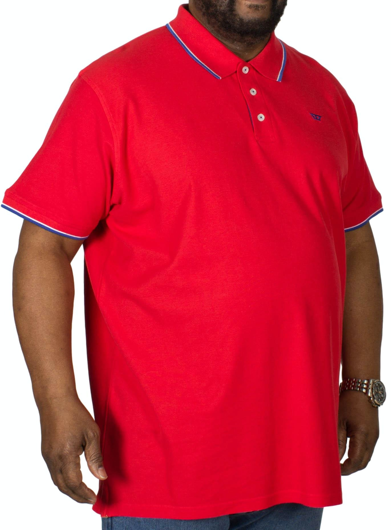 D555 Track Polo Shirt Red