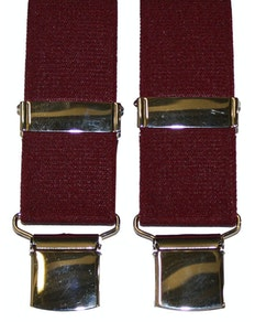 Tex Appeal Extra Long Braces Burgundy