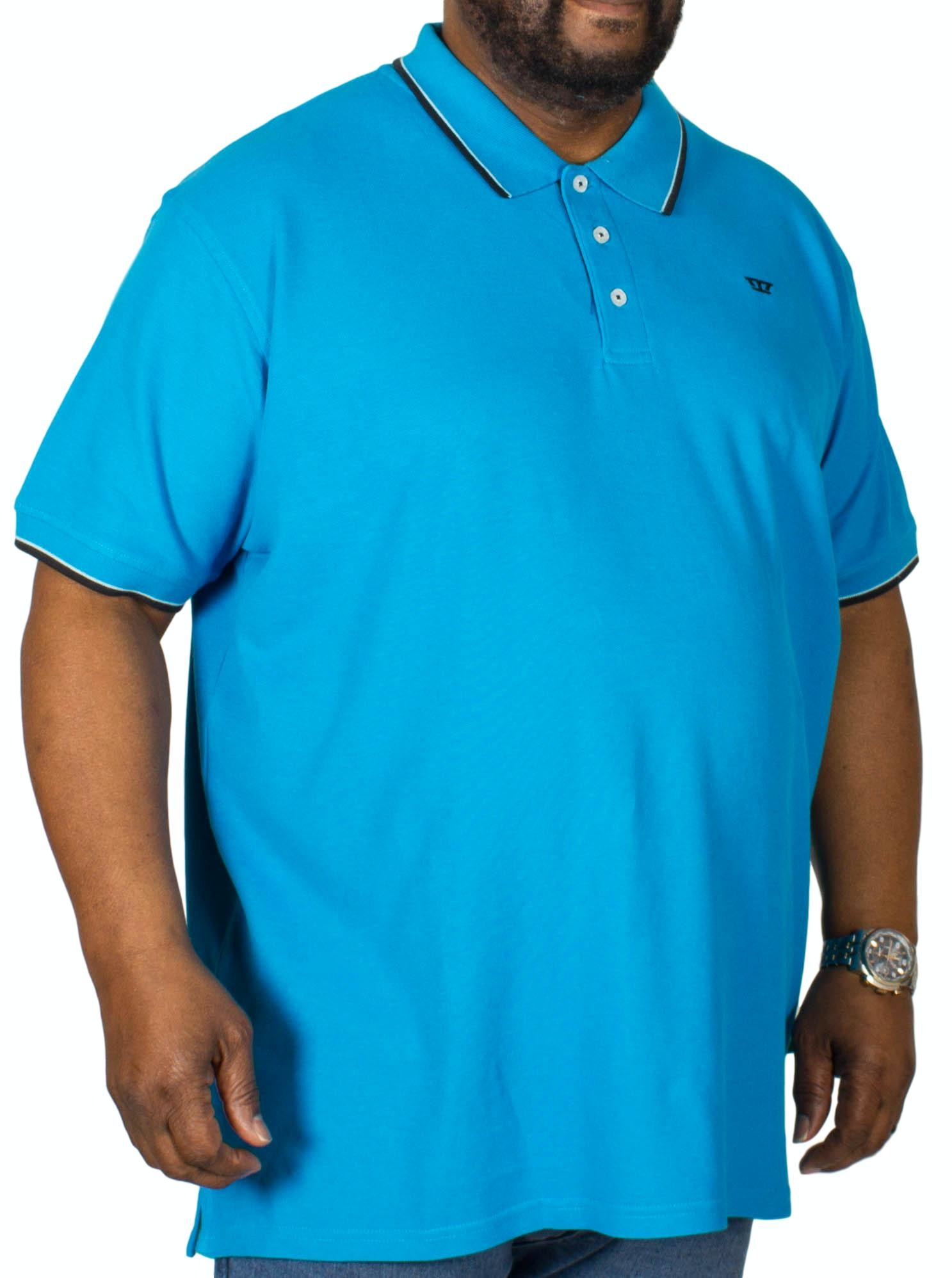 D555 Track Polo Shirt Turquoise