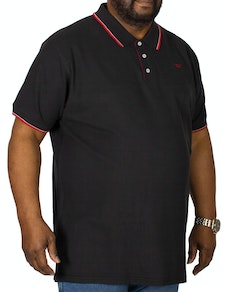 D555 Track Polo Shirt Black