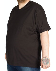 Cotton Valley V Neck T-Shirt Black