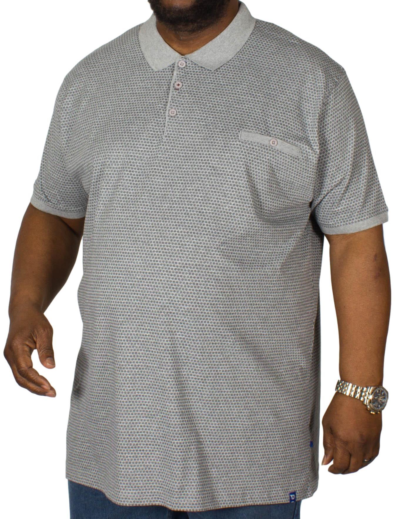 D555 Elijah Polo Shirt Grey