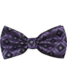 Knightsbridge Kensington Bow Tie Purple Square