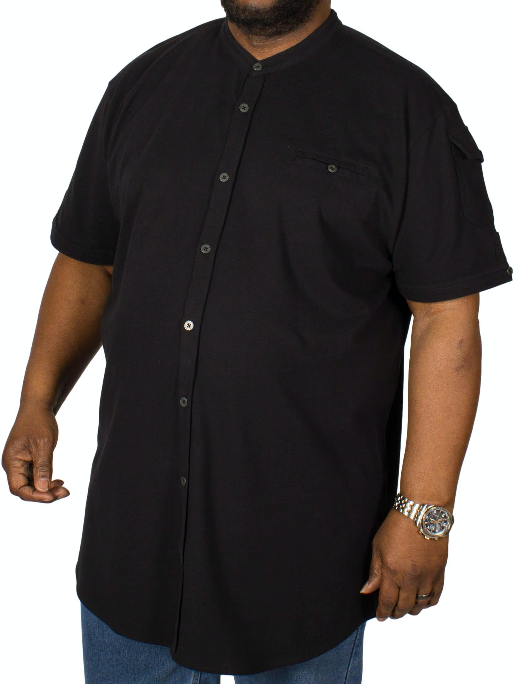 D555 Archer Pique Short Sleeve Shirt Black