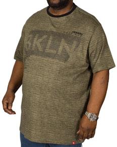 D555 New York Printed T-Shirt Khaki