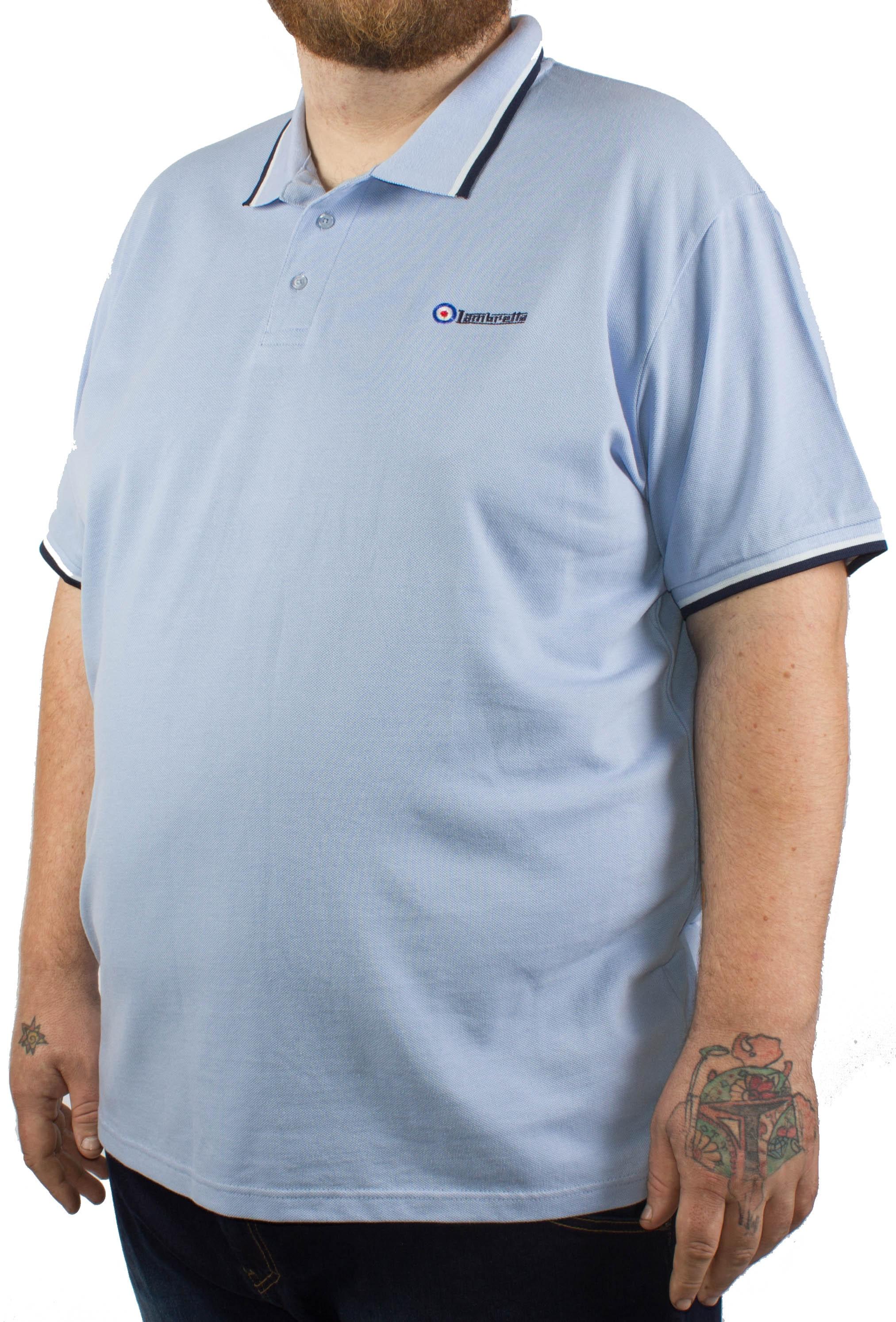 Lambretta PK Polo Shirt Sky Blue
