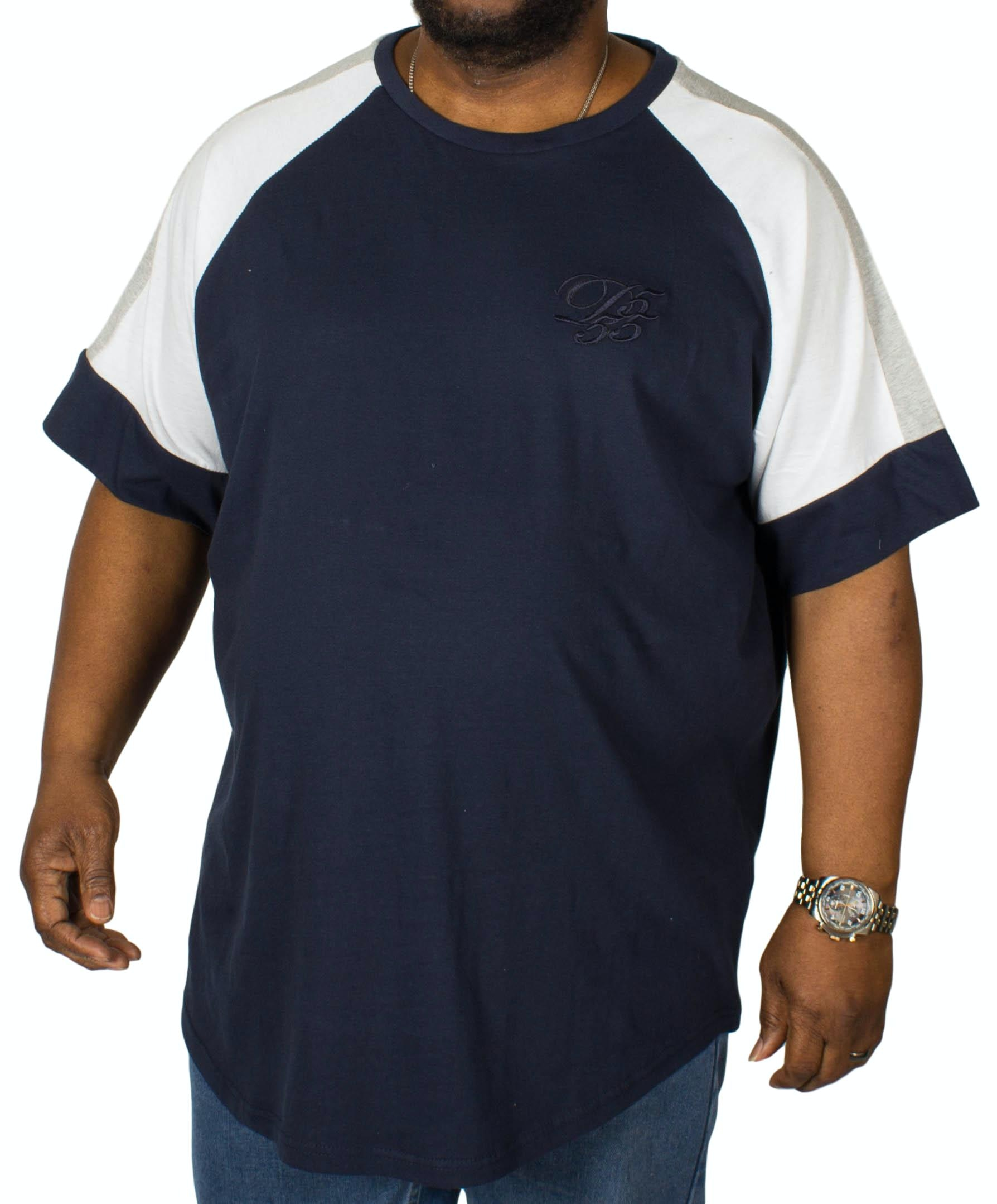 D555 California Embroidered T-Shirt Navy