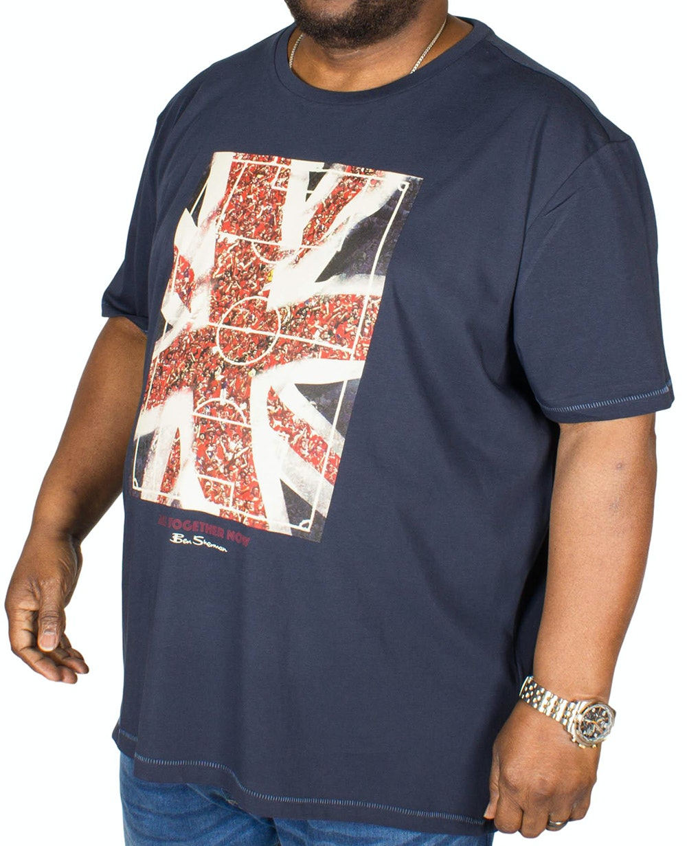 Ben Sherman Union Jack Fans T-Shirt Navy