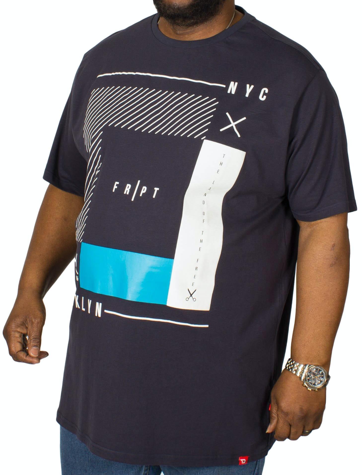 D555 Kenton Printed T-Shirt Navy