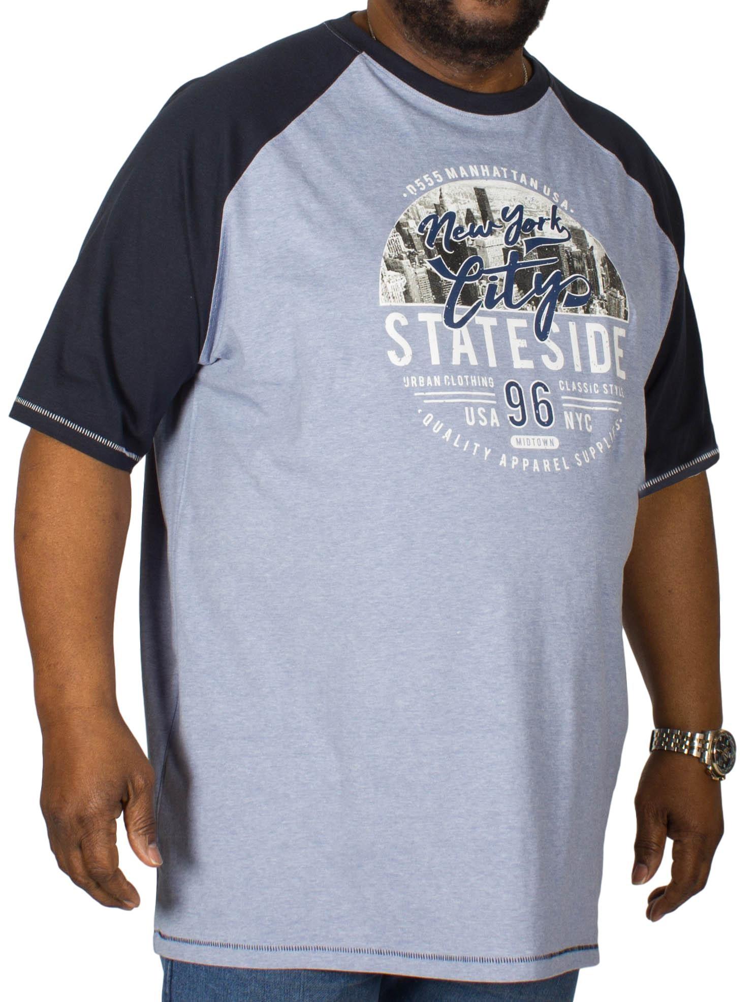 D555 Jarvis Printed Reglan T-Shirt Blue