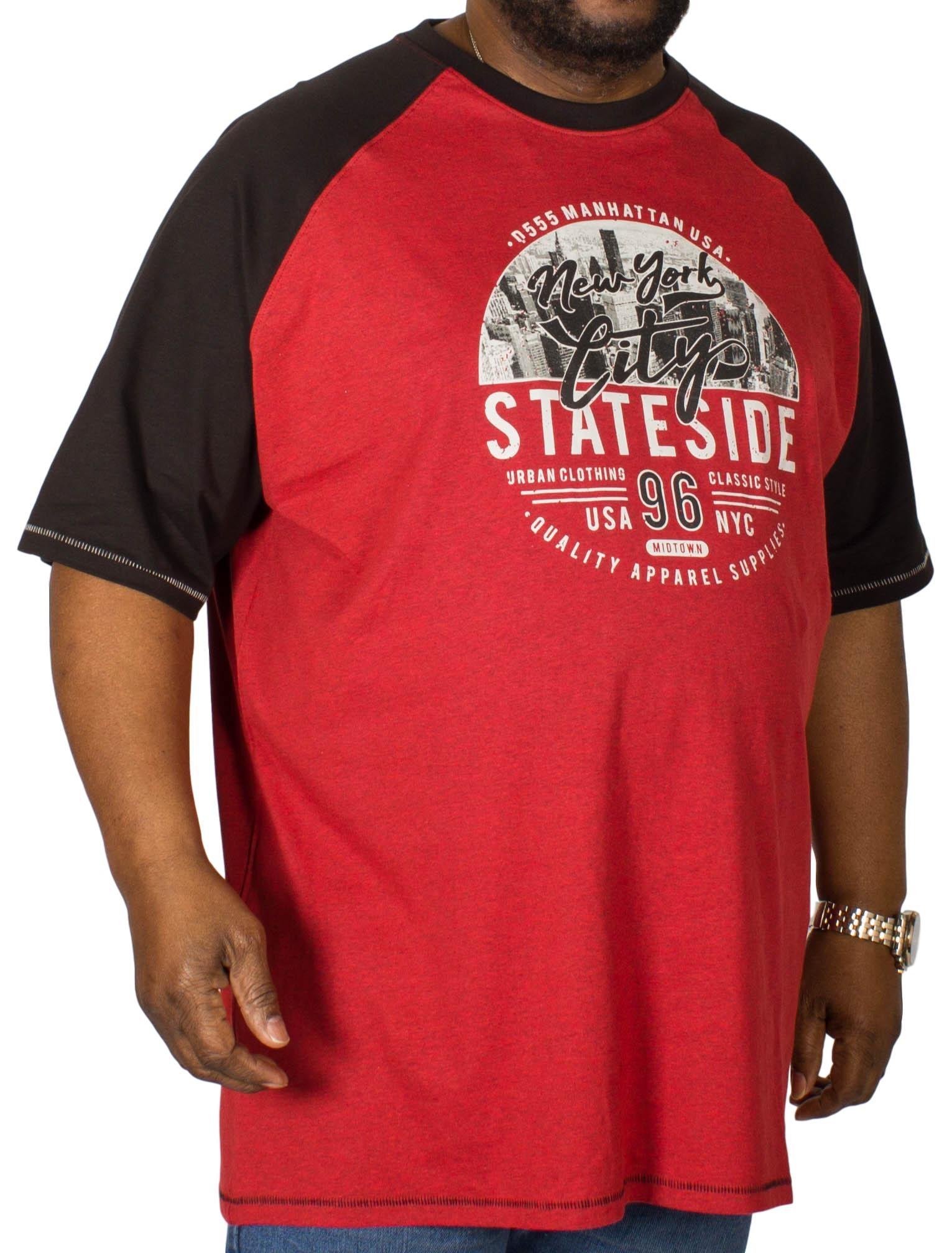 D555 Jarvis Printed Reglan T-Shirt Red