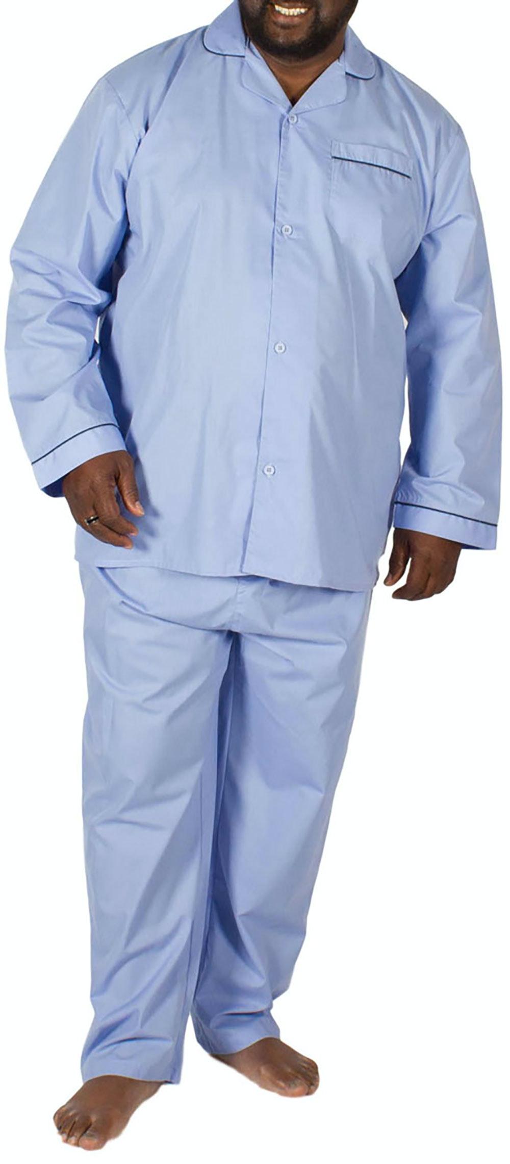 KAM Classic Woven Pyjama Set Sky Blue