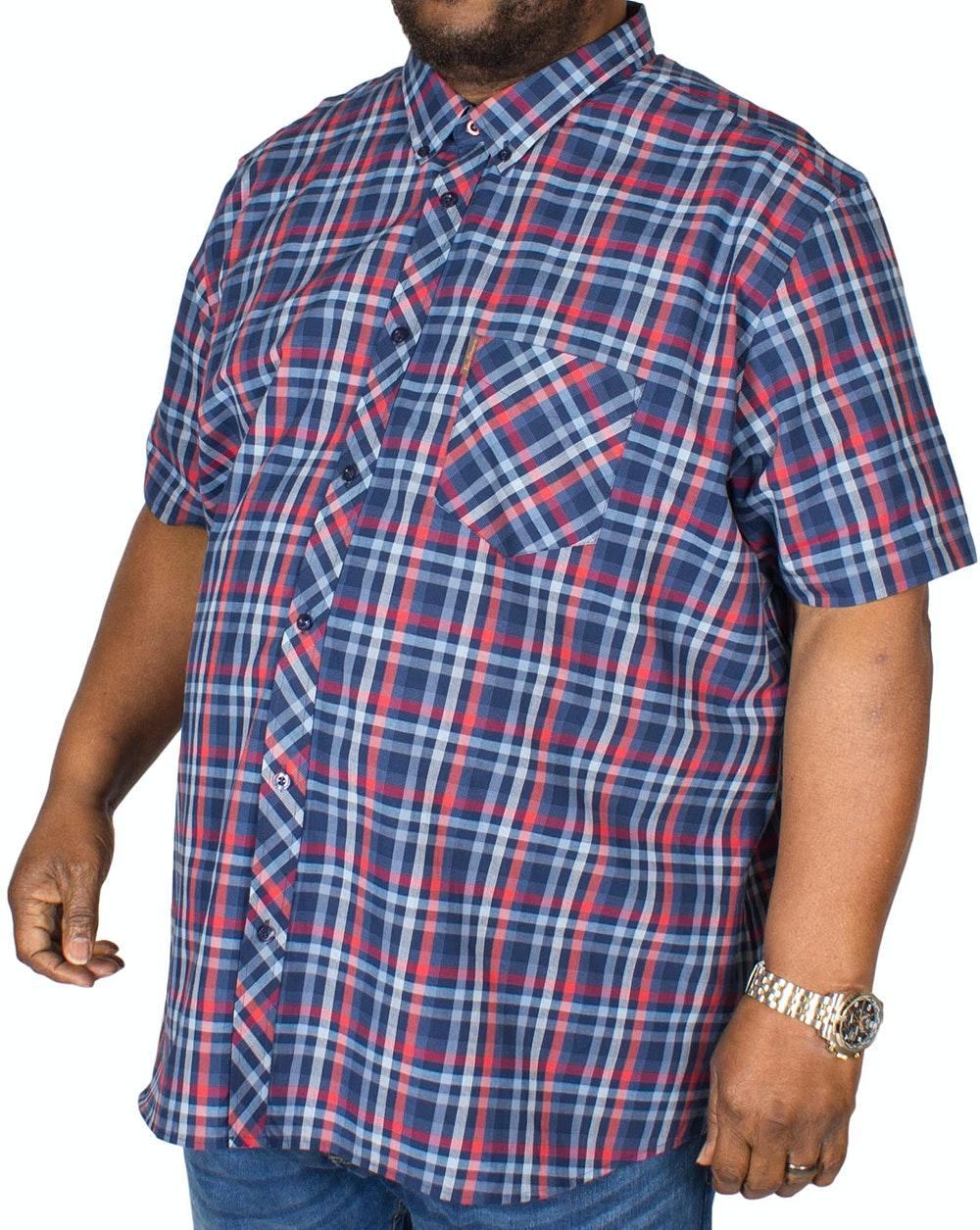 Ben Sherman Texture Check Shirt Navy