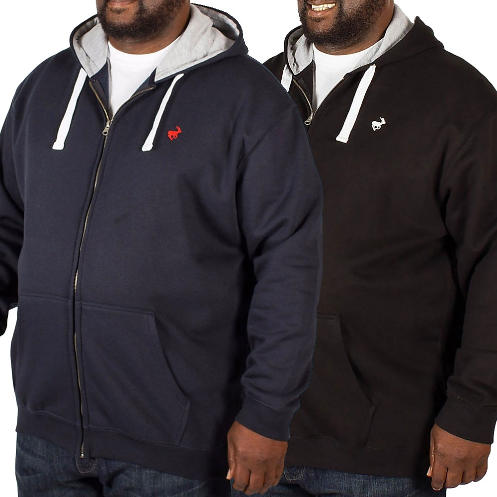 Bigdude Fleece Full Zip Hoody Twin Pack Black/Navy