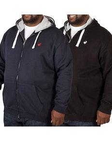 Bigdude Fleece Full Zip Hoody Twin Pack Black/Navy