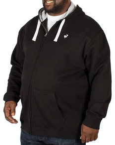 Bigdude Fleece Full Zip Hoody Black
