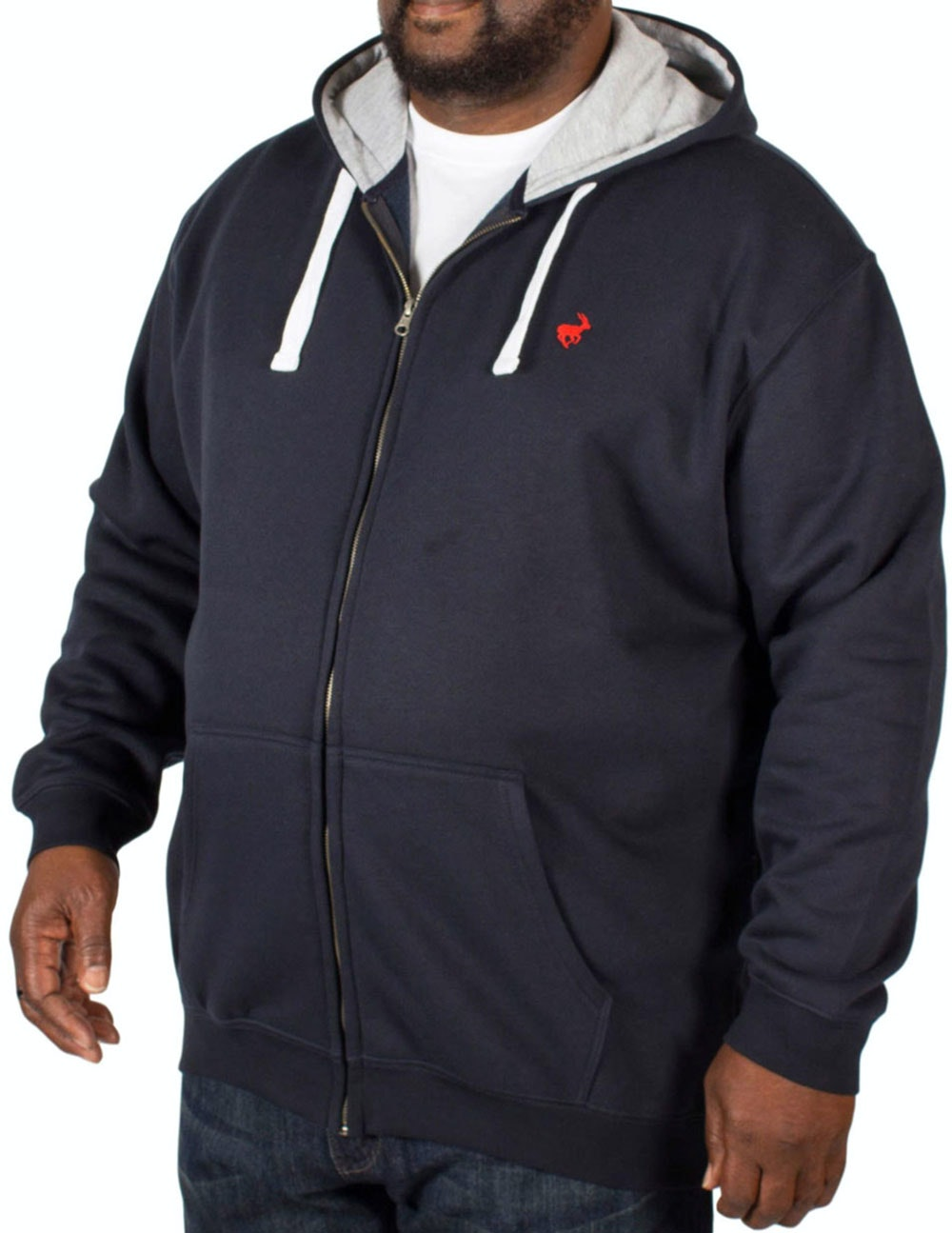 Bigdude Fleece Full Zip Hoody Navy