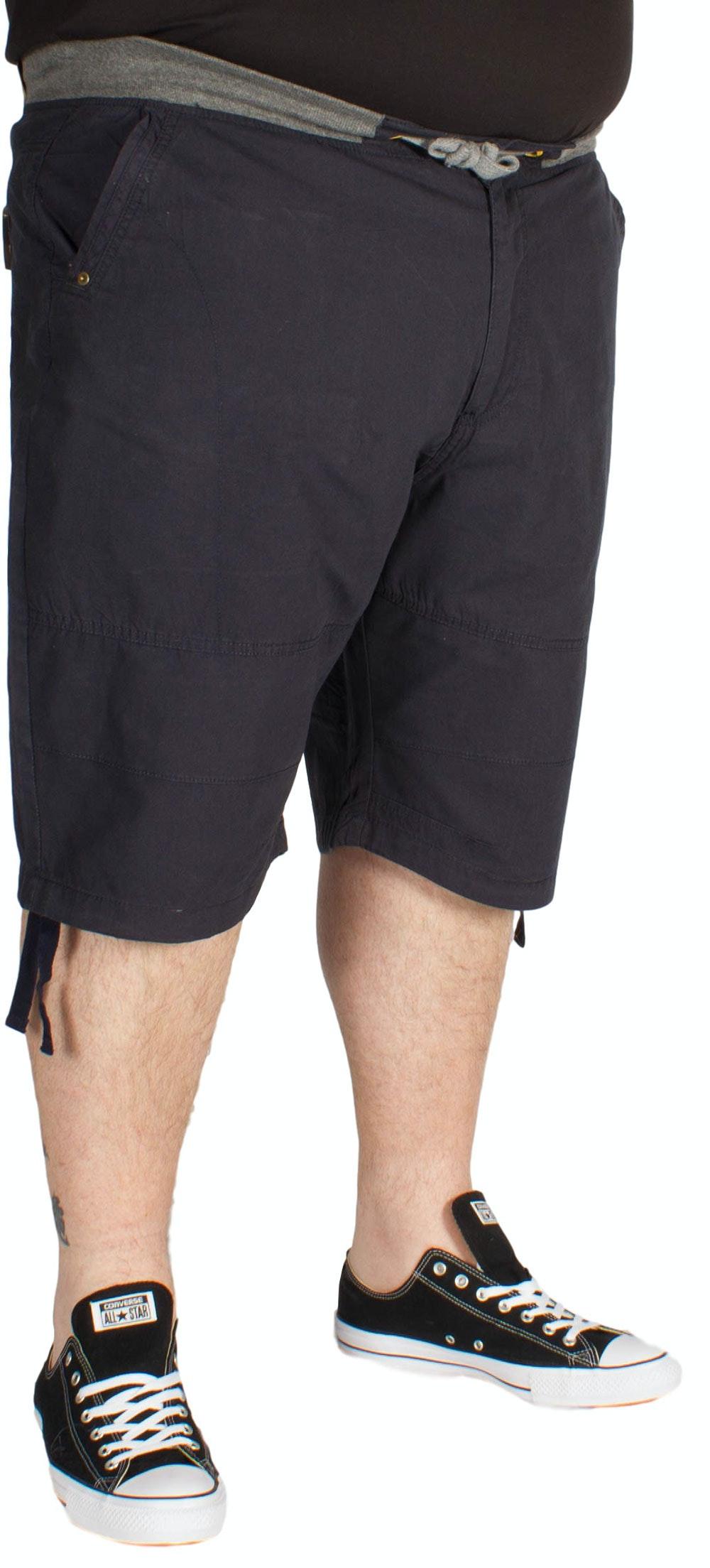 KAM Rib Elastic Fashion Shorts Navy