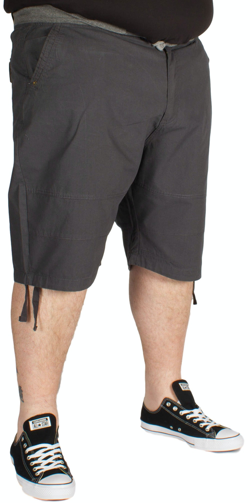 KAM Rib Elastic Fashion Shorts Charcoal