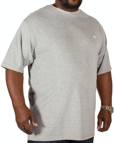 Bigdude Signature Crew Neck T-Shirt Grey Marl
