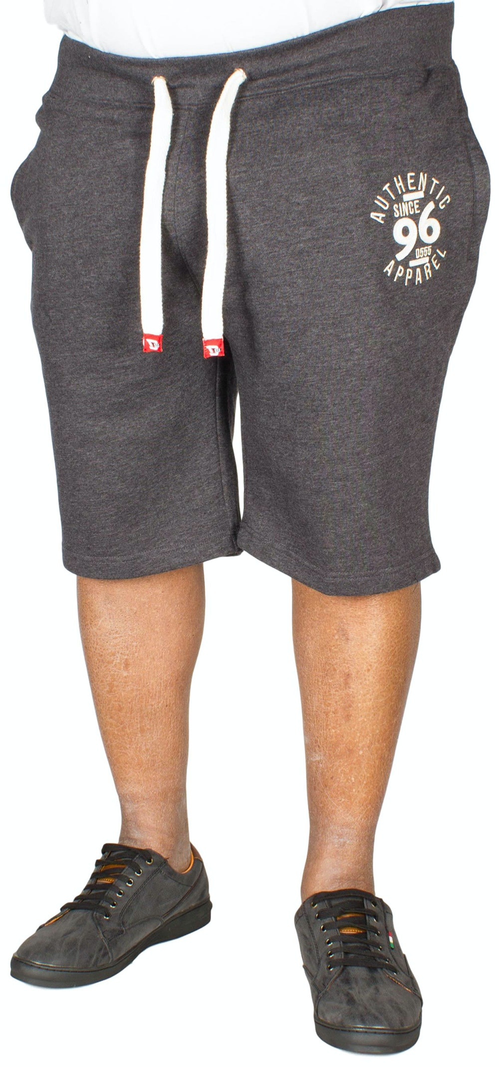 D555 Powell Embroidered Fleece Shorts Charcoal