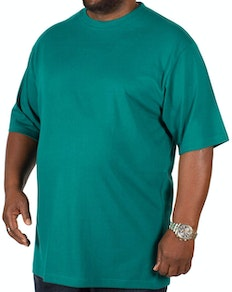 Bigdude Plain Crew Neck T-Shirt Green Tall