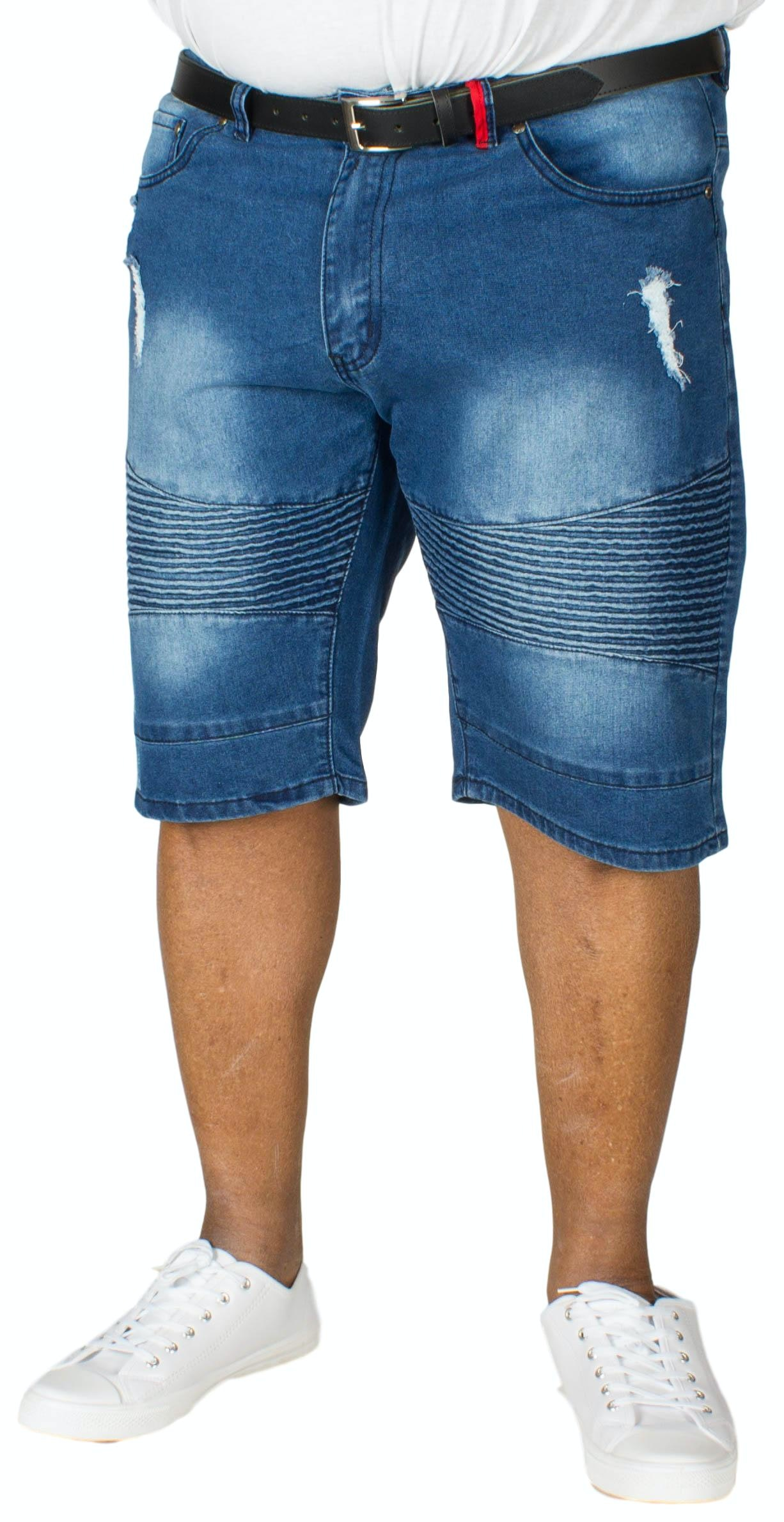 D555 Rodrigo Denim Biker Shorts